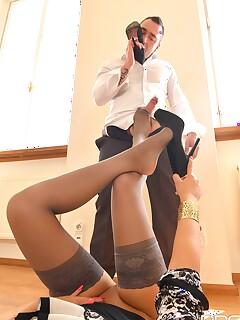 Stockings Footjob Pics