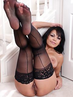 Women In Black Stockings Pics