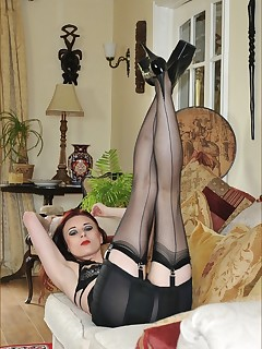 Women In Black Stockings Pics