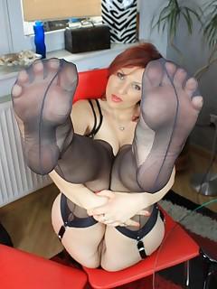 Stocking Feet Pics